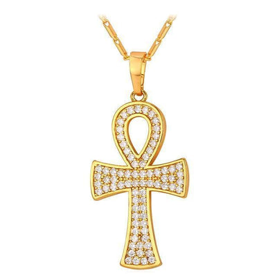 Egypt Diamonds Gold Coptic Ankh Necklace Ancient Treasures Ancientreasures Viking Odin Thor Mjolnir Celtic Ancient Egypt Norse Norse Mythology