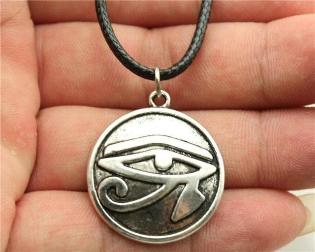 Egypt Eye of Horus - Circled Pendant Ancient Treasures Ancientreasures Viking Odin Thor Mjolnir Celtic Ancient Egypt Norse Norse Mythology