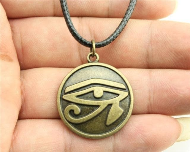 Egypt Eye of Horus Necklace - Golden Ancient Treasures Ancientreasures Viking Odin Thor Mjolnir Celtic Ancient Egypt Norse Norse Mythology