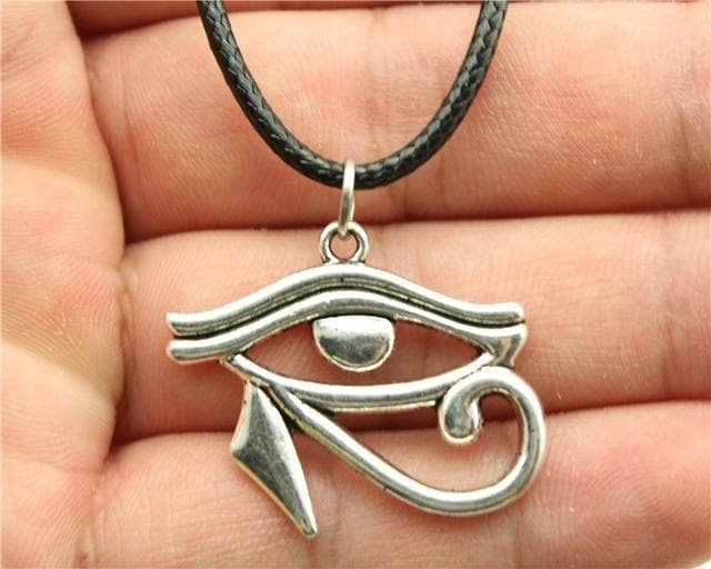 Egypt Eye of Horus Necklace - Silver Plated Ancient Treasures Ancientreasures Viking Odin Thor Mjolnir Celtic Ancient Egypt Norse Norse Mythology