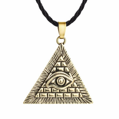 Egypt Gold Color Egyptian Pyramid Eye Necklace Ancient Treasures Ancientreasures Viking Odin Thor Mjolnir Celtic Ancient Egypt Norse Norse Mythology