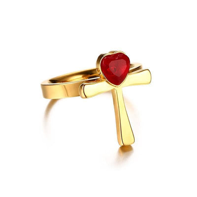 Egypt Golden Ankh Charm Ring Ancient Treasures Ancientreasures Viking Odin Thor Mjolnir Celtic Ancient Egypt Norse Norse Mythology