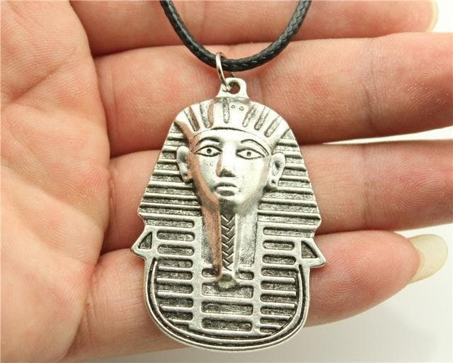 Egypt Pharaoh Necklace Series - Ramses - Silver Plated Ancient Treasures Ancientreasures Viking Odin Thor Mjolnir Celtic Ancient Egypt Norse Norse Mythology
