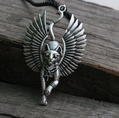 Egypt Silver Bastet goddess of Cats Ancient Egyptian Pendant Necklace Ancient Treasures Ancientreasures Viking Odin Thor Mjolnir Celtic Ancient Egypt Norse Norse Mythology
