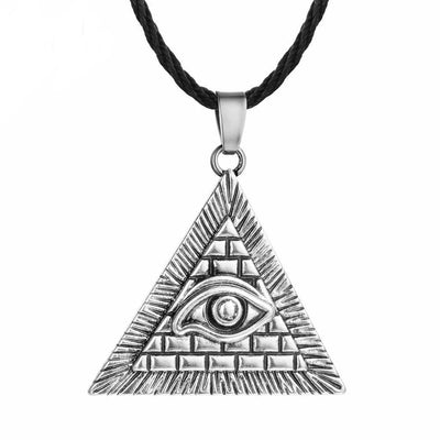 Egypt Silver Plated Egyptian Pyramid Eye Necklace Ancient Treasures Ancientreasures Viking Odin Thor Mjolnir Celtic Ancient Egypt Norse Norse Mythology