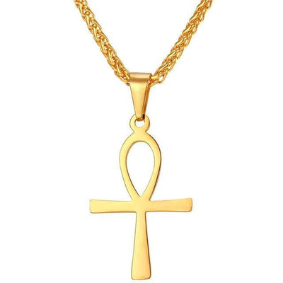 Egypt Small Gold Coptic Ankh Necklace Ancient Treasures Ancientreasures Viking Odin Thor Mjolnir Celtic Ancient Egypt Norse Norse Mythology