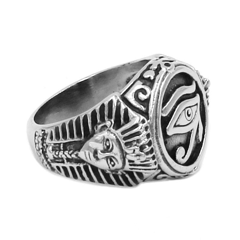 Stainless Steel Eye of Horus Ring