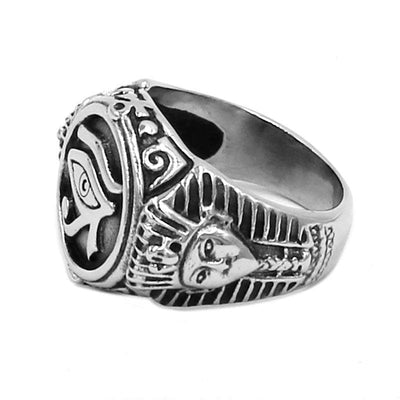 Egypt Stainless Steel Eye of Horus Ring Ancient Treasures Ancientreasures Viking Odin Thor Mjolnir Celtic Ancient Egypt Norse Norse Mythology