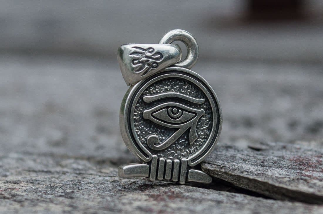 Egypt Sterling Silver Pendant with a Uajet Symbol Ancient Treasures Ancientreasures Viking Odin Thor Mjolnir Celtic Ancient Egypt Norse Norse Mythology