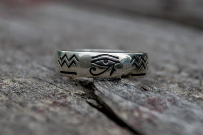 Egypt Sterling Silver Ring with Egyptian Symbols Ancient Treasures Ancientreasures Viking Odin Thor Mjolnir Celtic Ancient Egypt Norse Norse Mythology