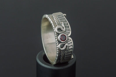 Egypt Sterling Silver Ring With Snake Symbol and Cubic Zirconia Ancient Treasures Ancientreasures Viking Odin Thor Mjolnir Celtic Ancient Egypt Norse Norse Mythology