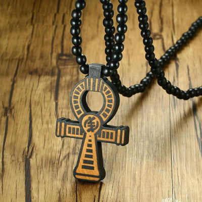 Egypt Wooden Beads Ankh Necklace Ancient Treasures Ancientreasures Viking Odin Thor Mjolnir Celtic Ancient Egypt Norse Norse Mythology
