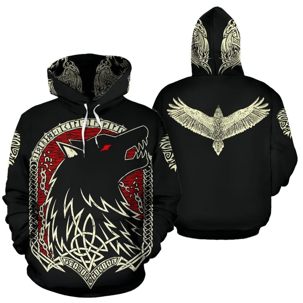 Fenrir Vikings Hoodie Ancient Treasures Ancientreasures Viking Odin Thor Mjolnir Celtic Ancient Egypt Norse Norse Mythology