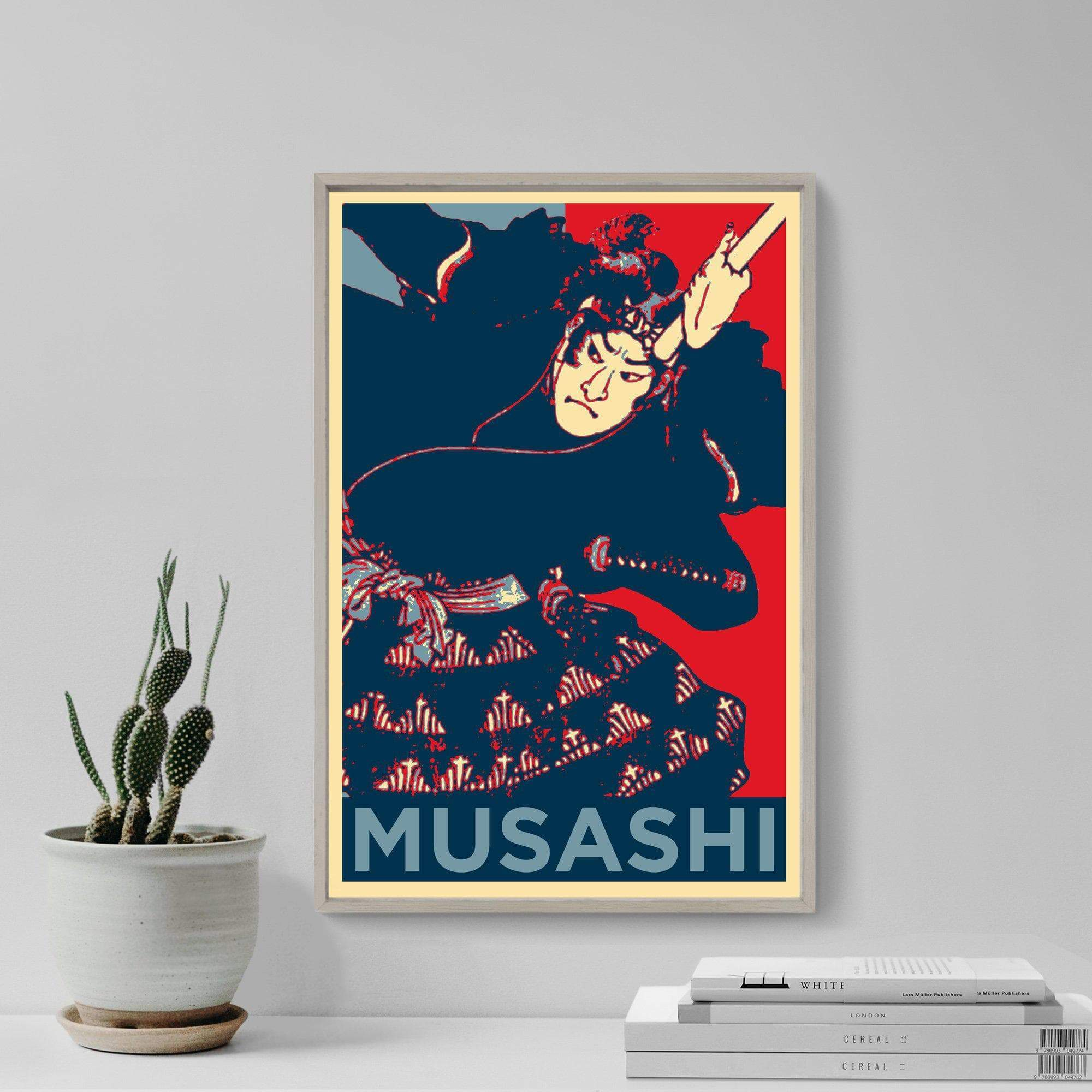 Feudal Japan Miyamoto Musashi Samurai Poster Ancient Treasures Ancientreasures Viking Odin Thor Mjolnir Celtic Ancient Egypt Norse Norse Mythology