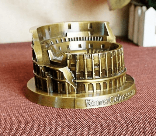 Figurines & Miniatures NOOLIM World Famous Landmark Building Metal Model Crafts Home Furnishings Roman Colosseum Model Decoration Creative Gift|gift creative|gift giftsgift craft Ancient Treasures Ancientreasures Viking Odin Thor Mjolnir Celtic Ancient Egypt Norse Norse Mythology