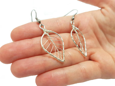 Handmade Wire Rap Jewelry Wire Wrap Tree of Life Leaf Earrings