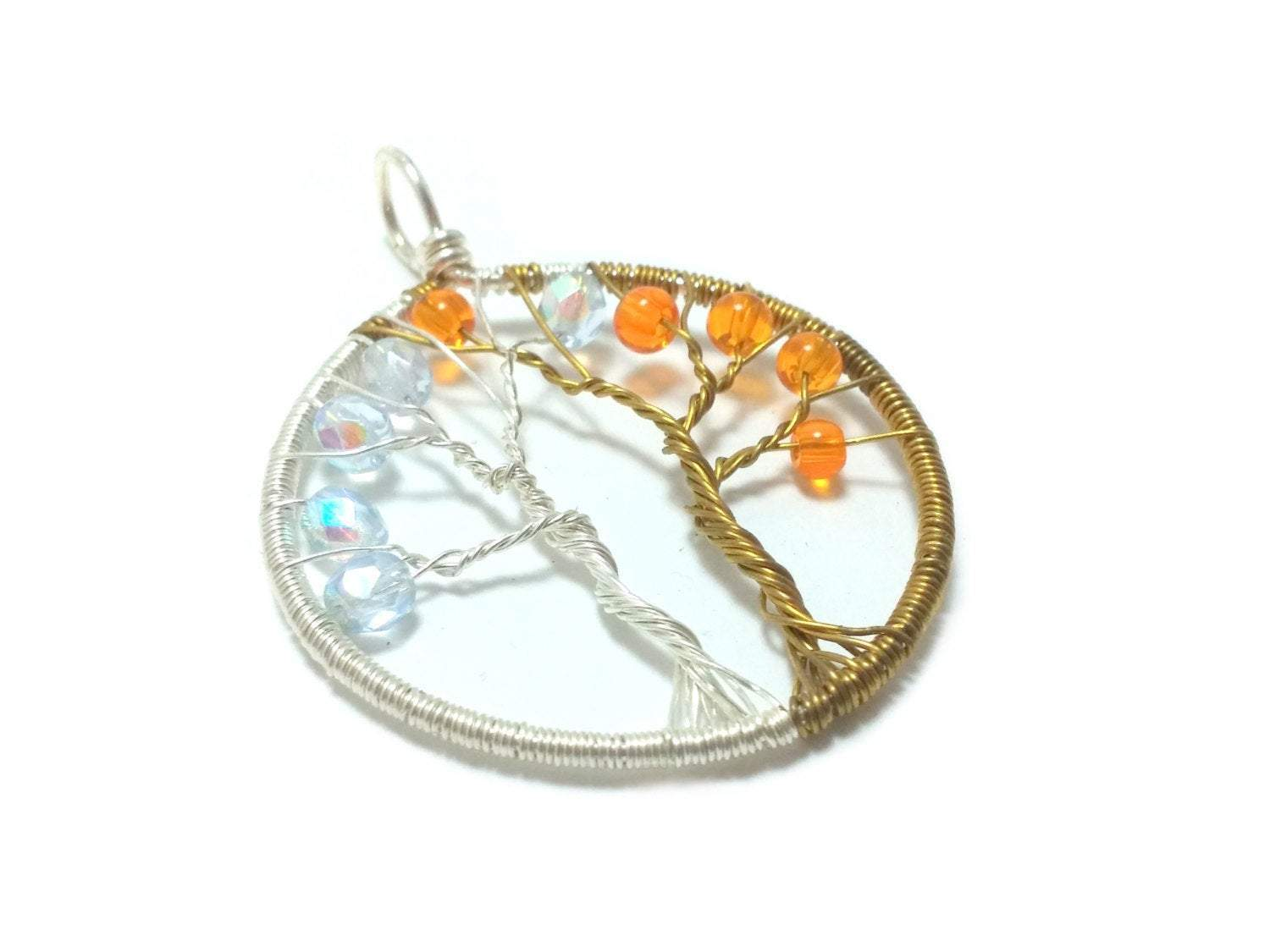 Wire Wrap Fantasy Tree of Life Pendant