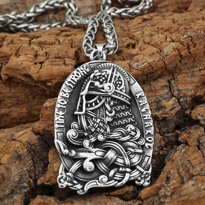 Home Metal-chain Nordic viking rune odin amulet stainless steel Talisman Pendant necklace with viking gift bag on AliExpress - 11.11_Double 11_Singles' Day Ancient Treasures Ancientreasures Viking Odin Thor Mjolnir Celtic Ancient Egypt Norse Norse Mythology