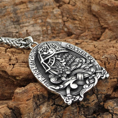 Home Nordic viking rune odin amulet stainless steel Talisman Pendant necklace with viking gift bag on AliExpress - 11.11_Double 11_Singles' Day Ancient Treasures Ancientreasures Viking Odin Thor Mjolnir Celtic Ancient Egypt Norse Norse Mythology