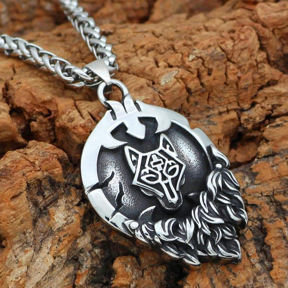 Home Vikings Nordic Wolf Fenrir Pendant & Necklace Ancient Treasures Ancientreasures Viking Odin Thor Mjolnir Celtic Ancient Egypt Norse Norse Mythology