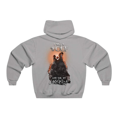 Hoodie Athletic Heather / S Copy of Wolf and Moon Norse Hoodie