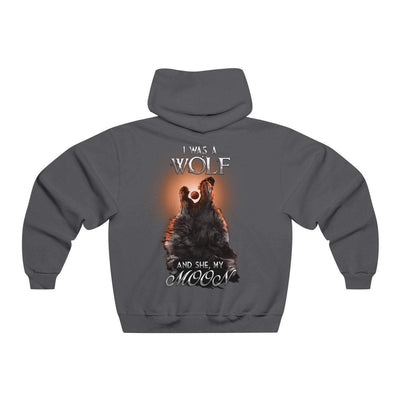 Hoodie Charcoal Heather / L Copy of Wolf and Moon Norse Hoodie
