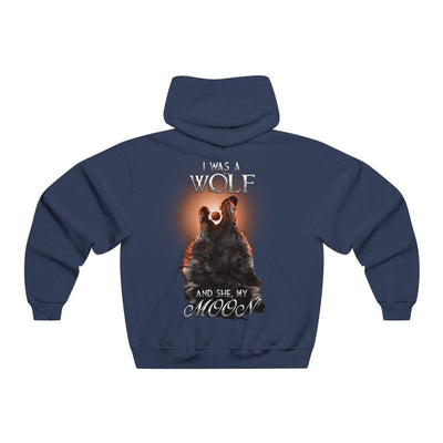 Hoodie Navy Heather / S Copy of Wolf and Moon Norse Hoodie