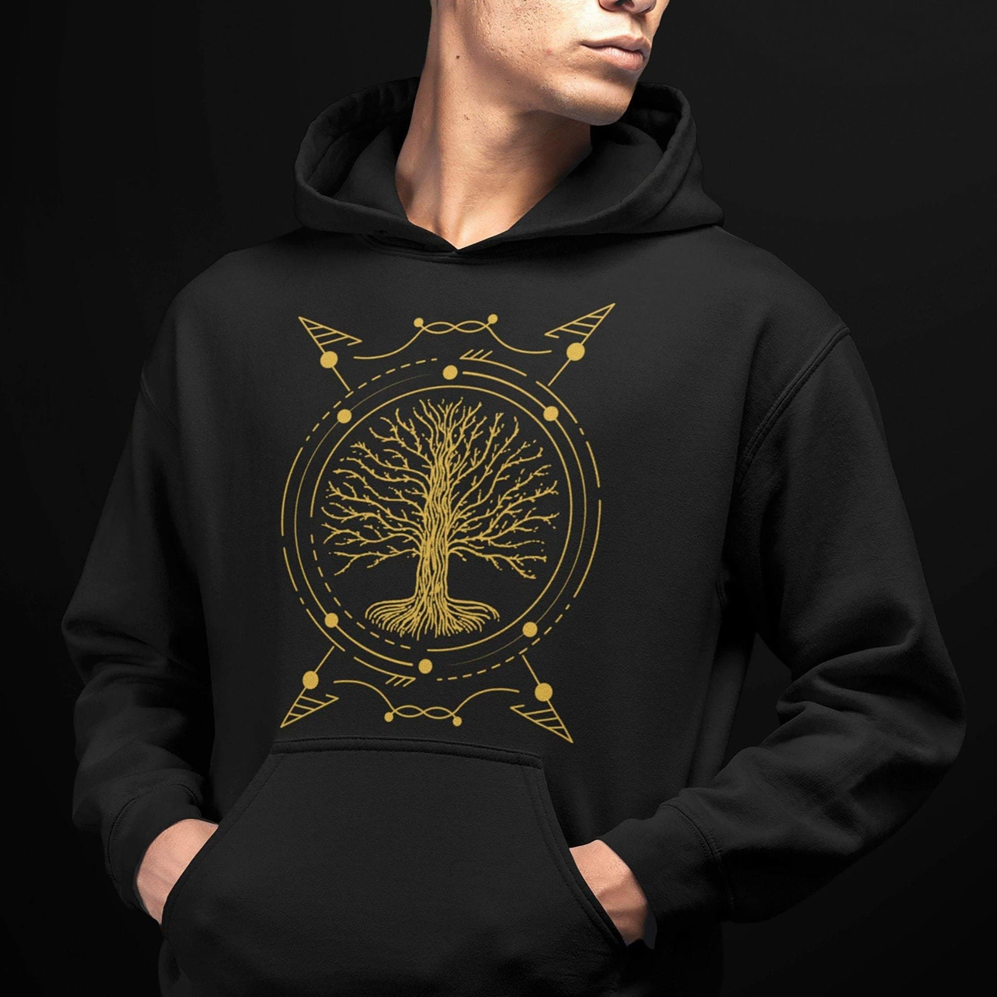 Hoodie Vikings Yggdrasil - The Tree of Life Unisex Hoodie Ancient Treasures Ancientreasures Viking Odin Thor Mjolnir Celtic Ancient Egypt Norse Norse Mythology