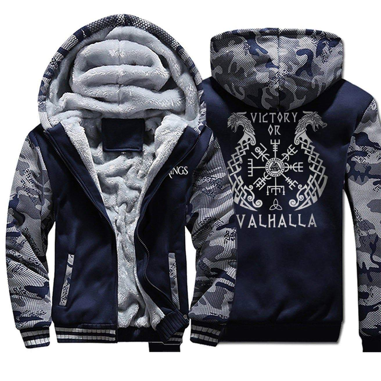 Hoodie Victory of Valhalla Vikings Hoodie Ancient Treasures Ancientreasures Viking Odin Thor Mjolnir Celtic Ancient Egypt Norse Norse Mythology