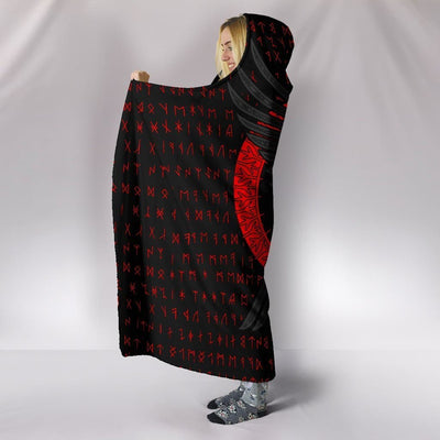 Huginn and Munnin Red Hooded Blanket Ancient Treasures Ancientreasures Viking Odin Thor Mjolnir Celtic Ancient Egypt Norse Norse Mythology