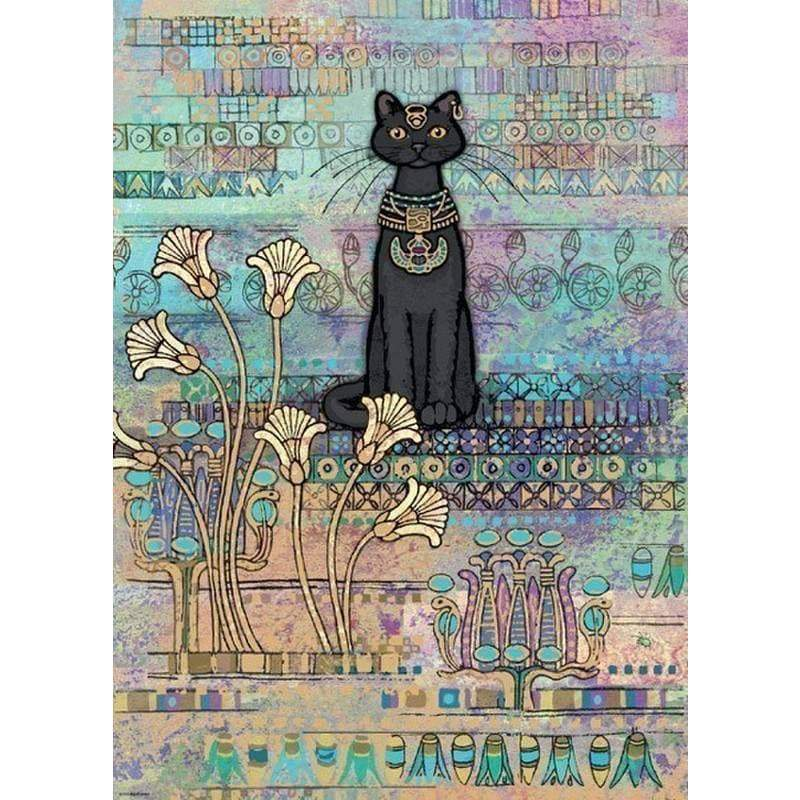 Jigsaw Puzzle Ancient Egyptian Cat Goddess Bastet1000 Pieces Jigsaw Puzzles Ancient Treasures Ancientreasures Viking Odin Thor Mjolnir Celtic Ancient Egypt Norse Norse Mythology