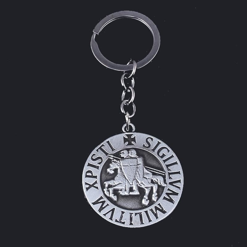 "Knights Templar Seal ""Sigillum Militum Xpisti"" Zinc Alloy Keychain Ancient Treasures Ancientreasures Viking Odin Thor Mjolnir Celtic Ancient Egypt Norse Norse Mythology"