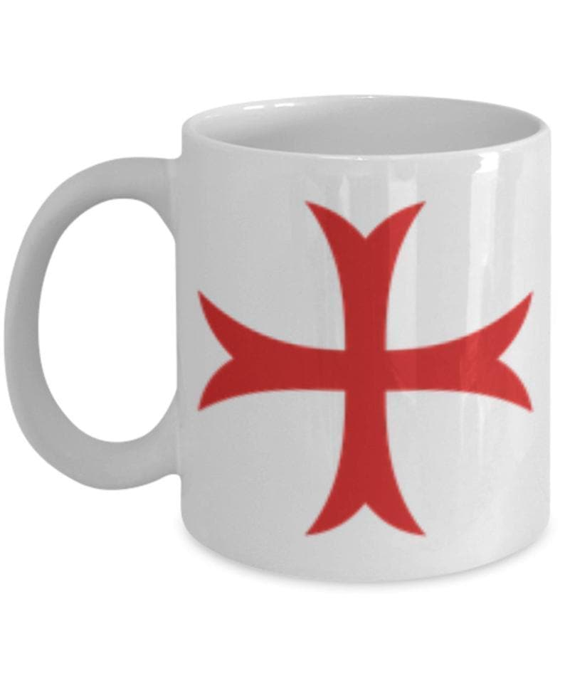 Knights Of Templar Prayer White Ceramic Coffee Mug