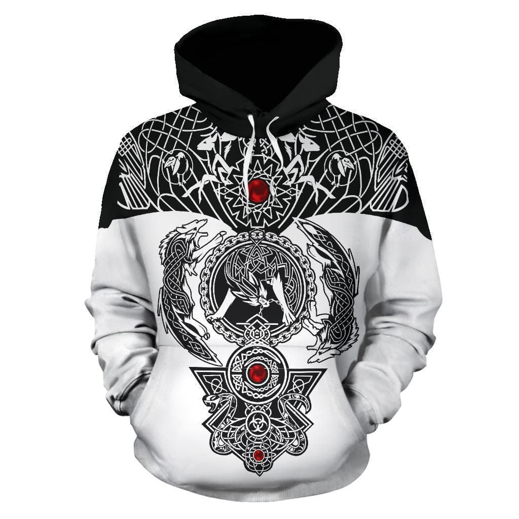 Men's Hoodie - 3D Viking Ragnarok Hoodie / S 3D Viking Ragnarok Hoodie Ancient Treasures Ancientreasures Viking Odin Thor Mjolnir Celtic Ancient Egypt Norse Norse Mythology