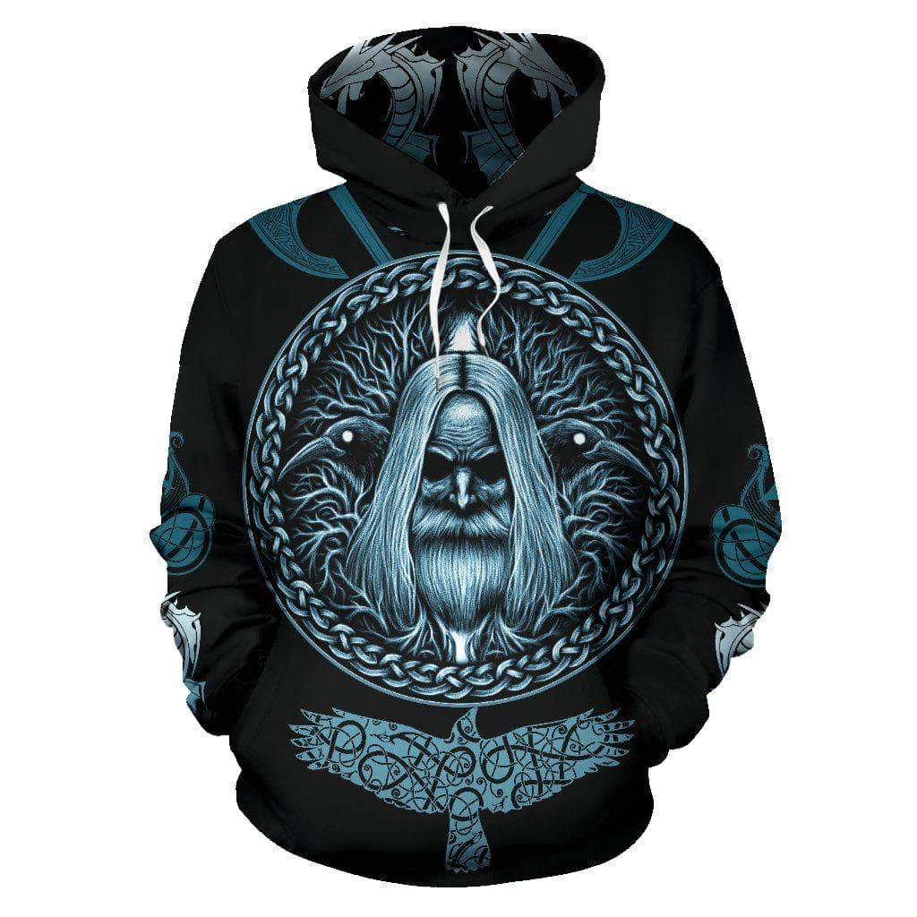 Men's Hoodie - Vikings Odin's Compass Vegvisir Hoodie / S Vikings Odin's Compass Vegvisir Hoodie Ancient Treasures Ancientreasures Viking Odin Thor Mjolnir Celtic Ancient Egypt Norse Norse Mythology