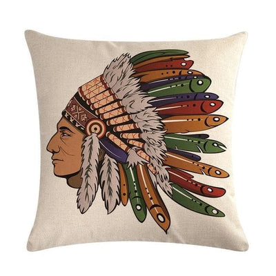 Native American 12 Native American Traditional Cushion Cover
