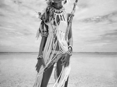 Native American 20X30cm No Frame / Picture 1 Native American Black & White Indian Women Canvas