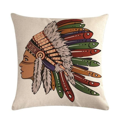 Native American 8 Native American Traditional Cushion Cover