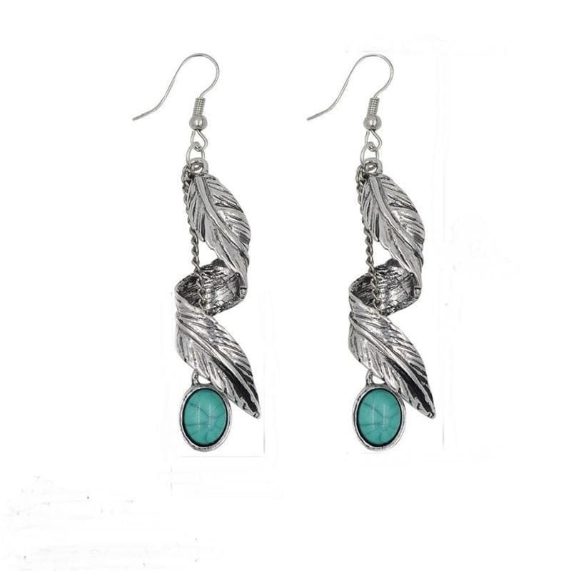 Native American Antique Silver Native American Navajo Dangle Earring