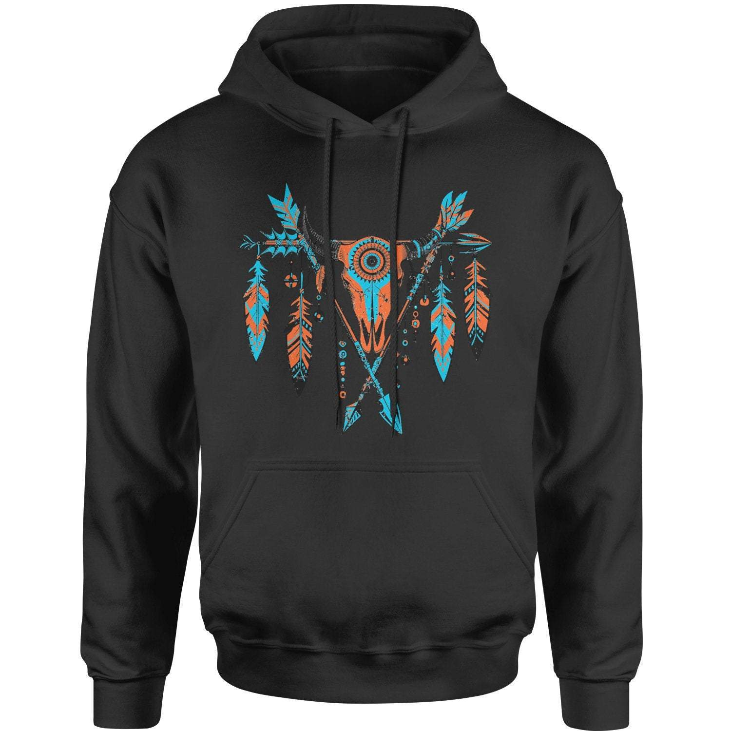 Native American Artwork Cattle Skull Hoodie Sweatshirt Ancient Treasures Ancientreasures Viking Odin Thor Mjolnir Celtic Ancient Egypt Norse Norse Mythology