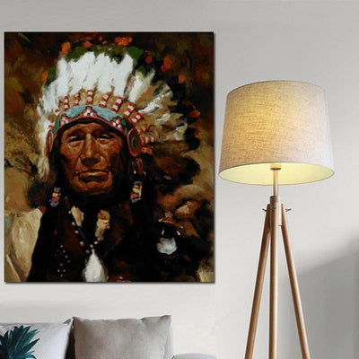 Native American Native American Cherokee Men Canvas