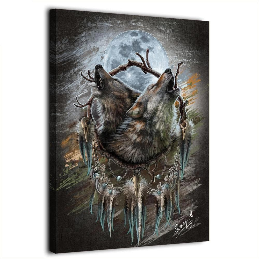 Native American Howling Wolf Canvas