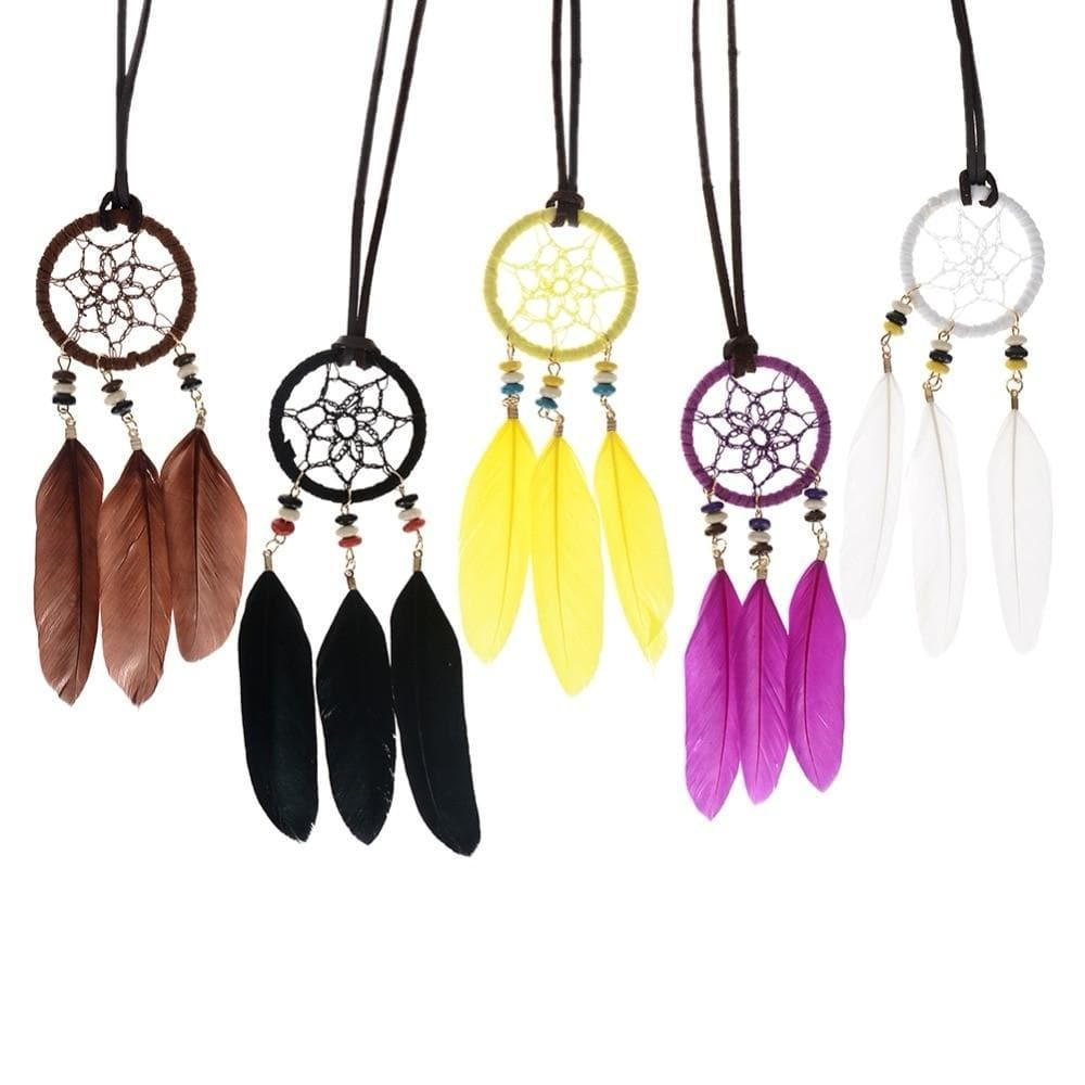Native American Indian Style Feather Necklace