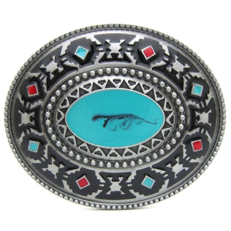 Native American Native American Western Indian Artistic Belt Buckle