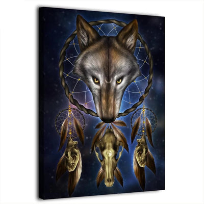 Native American Wolf Canvas