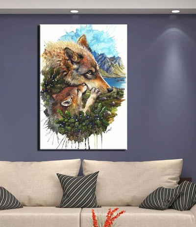 Native American Native American Wolves Canvas