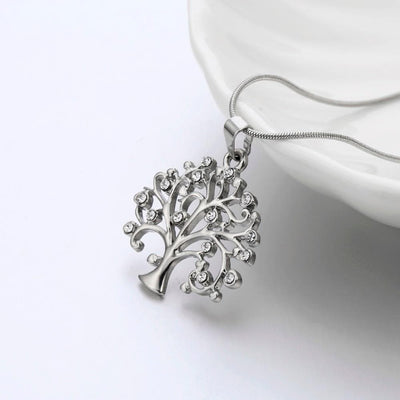 Necklace Delicate Crystal Tree of Life Pendant Necklace