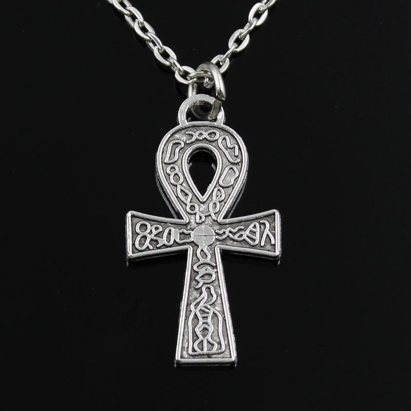 Silver Ankh Egyptian Necklace
