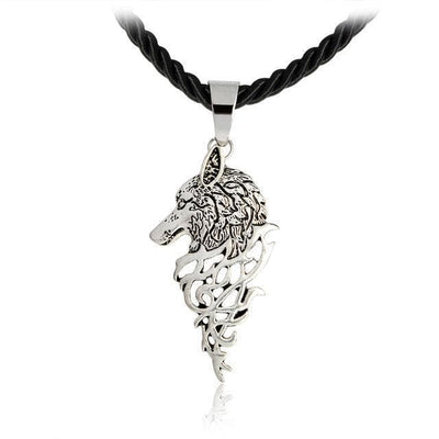 Necklace Silver Nordic Wolf Necklace Ancient Treasures Ancientreasures Viking Odin Thor Mjolnir Celtic Ancient Egypt Norse Norse Mythology