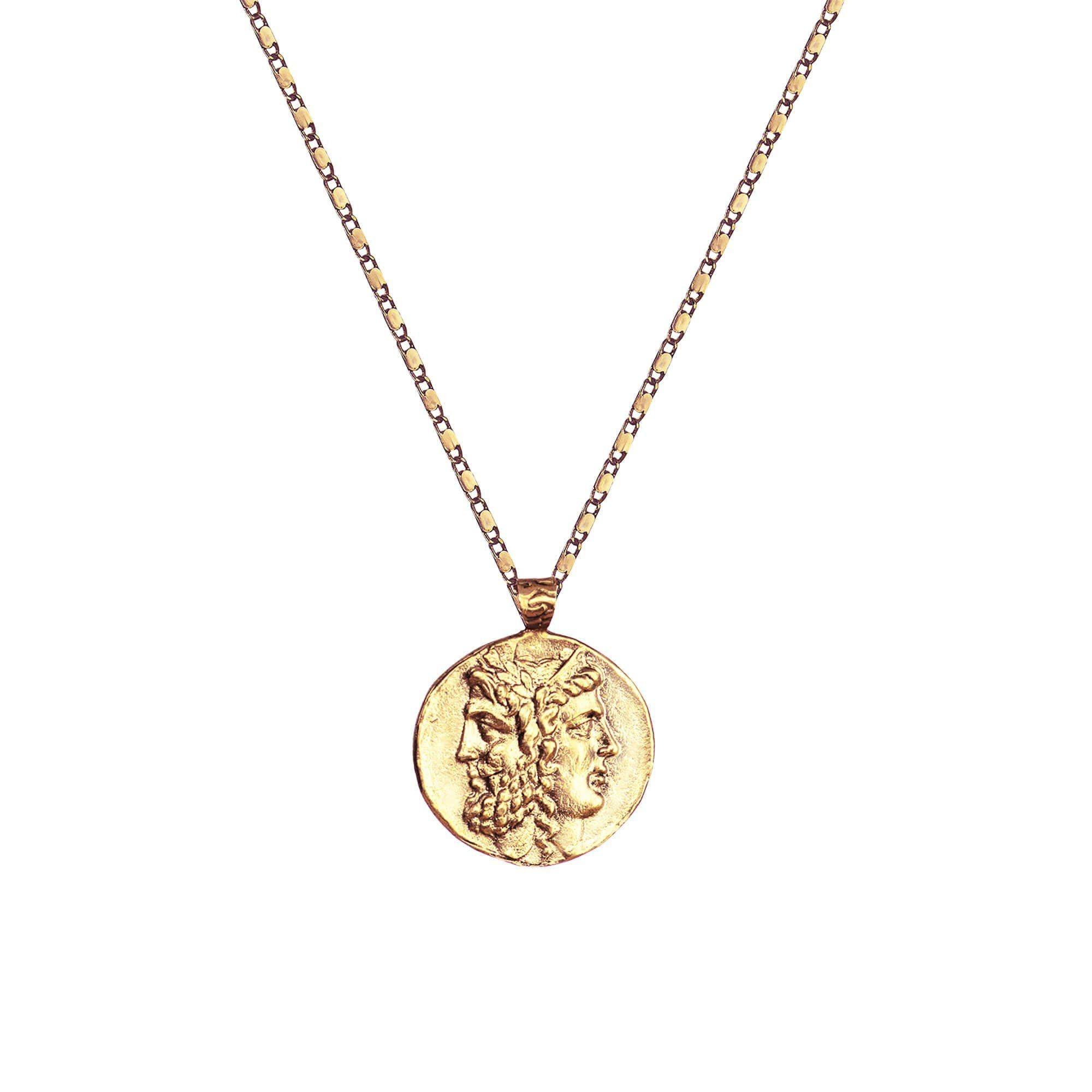 Pendant and Necklace Ancient Greek Zeus and Hera Coin pendant & Necklace Ancient Treasures Ancientreasures Viking Odin Thor Mjolnir Celtic Ancient Egypt Norse Norse Mythology
